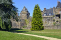 Castle of fougères in france fortifications commune and a sub prefecture the ille et vilaine department brittany northwestern Stock Photo