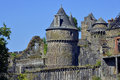 Castle of fougères in france keep and fortifications commune and a sub prefecture the ille et vilaine department brittany Royalty Free Stock Images