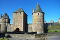 Castle of fougeres france towers château de fougères in taken in may Royalty Free Stock Images