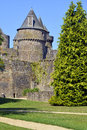 Castle of fougères in france keep and fortifications commune and a sub prefecture the ille et vilaine department brittany Royalty Free Stock Photos
