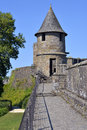 Castle of fougères in france keep and fortifications commune and a sub prefecture the ille et vilaine department brittany Royalty Free Stock Photo