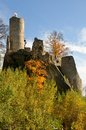 Castle frydstejn ruins in cesky raj czech republic Royalty Free Stock Photo