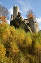Castle frydstejn ruins in cesky raj czech republic Stock Photos