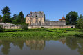 Castle and gardens in Chatillon Royalty Free Stock Image