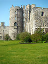 Castle in great britain summertime Royalty Free Stock Images