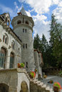 Castle of gressoney saint jean aosta valley italy Royalty Free Stock Photo