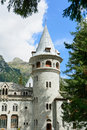 Castle of gressoney saint jean aosta valley italy Royalty Free Stock Image