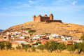 Castle on hill castillo de la calahorra and village granada a medieval province andalusia spain Royalty Free Stock Photo