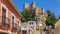 Castle on the hilltop above Almansa Royalty Free Stock Photo