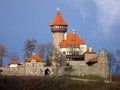 Castle hnevin in city most czech republic Royalty Free Stock Photos