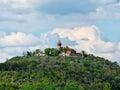 Castle hnevin in city most czech republic Stock Photo