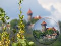 Castle hnevin in city most czech republic Stock Images