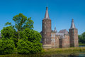 Castle hoensbroek or gebrookhoes gebrook dutch kasteel is one of the largest castles in the netherlands Royalty Free Stock Image