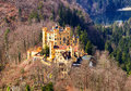 The castle of Hohenschwangau in Germany. Bavaria Royalty Free Stock Photo