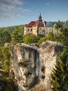 Castle hruba skala bohemia fairytale romantic the pearl of the bohemian paradise region landmark in the czech republic the stands Stock Photography