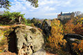 Castle hruba skala in bohemian paradise czech republic autumn Royalty Free Stock Images