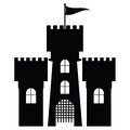 Castle icon isolated illustration Stock Images