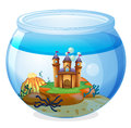 A castle inside the jar illustration of on white background Royalty Free Stock Images
