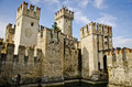 Castle in italy sirmione lago di garda very old nice a small place Stock Photos