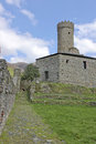 The Castle and its wall Royalty Free Stock Photo