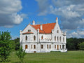 Castle kapetanovo captain was built by bishop hybro bela years the is located along the road way zrenjanin vrsac Royalty Free Stock Photo