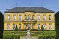 Castle kasteel oost city valkenburg netherlands this colorful ocher former has today the appearance of a nineteenth century Stock Photography