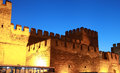 Castle of Kayseri at night, Turkey. Royalty Free Stock Photos