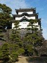Castle keep at Imperial Palace in Tokyo Japan Stock Photo