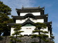 Castle keep at Imperial Palace in Tokyo Japan Royalty Free Stock Image