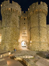 Castle of the Knights at Rhodes, Greece Stock Photography