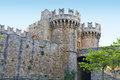 Castle of the Knights at Rhodes island Stock Photos