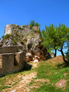 Castle in knin in croatia ruins of the medieval capital of the kingdom of and the years the capital of the republic of Stock Photo