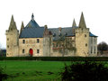 Castle in laarne belgium medieval the flemish village of next to ghent Royalty Free Stock Image