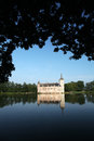 Castle lake in a during summertime of horst belgium Stock Photography