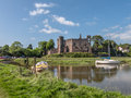 The Castle Laugharne Taf Estuary Wales Royalty Free Stock Photo