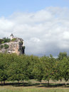 Castle on a limestone bluff Royalty Free Stock Photo
