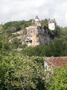 Castle on a limestone bluff Stock Photo