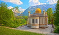 Castle linderhof Stock Images