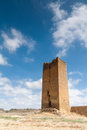 Castle of luna aragon in a summer day the spain Royalty Free Stock Photos