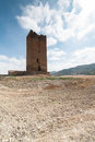 Castle of luna aragon in a summer day the spain Stock Image