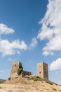 Castle of luna aragon in a summer day the spain Royalty Free Stock Photography