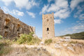 Castle of luna aragon in a summer day the spain Stock Photo