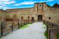 Castle malatestiano fano access malatesta town in italy Stock Photography