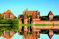 Castle at Malbork capital of the Teutonic Knights , the most powerful castle, Royalty Free Stock Photo