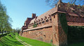 Castle in malbork poland the old gothic Stock Photos