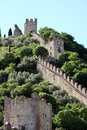 Castle  of Marostica with towers Royalty Free Stock Photo