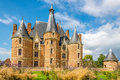 Castle Martainville with turret Royalty Free Stock Photo