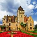 Castle  Milandes, Dordogne . France Royalty Free Stock Photo