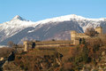 Castle Montebello at Bellinzona Royalty Free Stock Photo