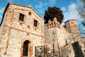 The castle of Montebello di Torriana Stock Photography